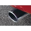 Sebring Sportowa końcówka tłumika chromowane  do pojazdów z silnikiem benzynowym 1.25 i 1.4, Mazda 2 DY (Facelift),